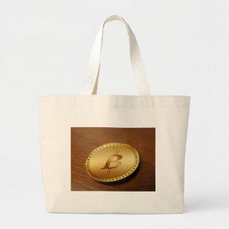 Bitcoin 2 large tote bag