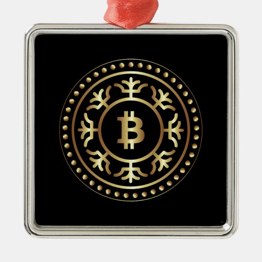 Bitcoin 2 metal ornament