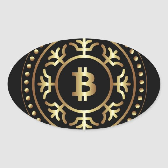 Bitcoin 2 oval sticker