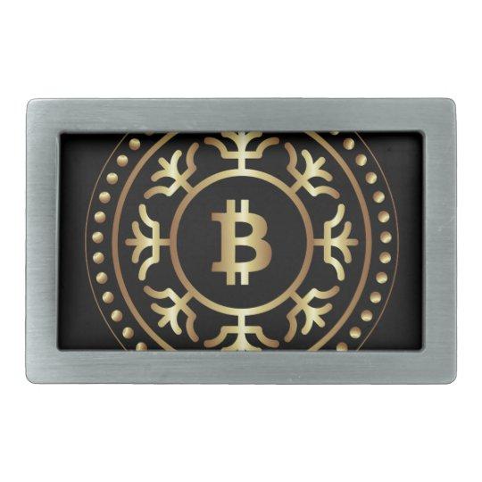 Bitcoin 2 rectangular belt buckle