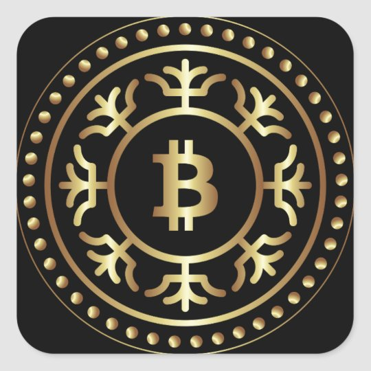 Bitcoin 2 square sticker