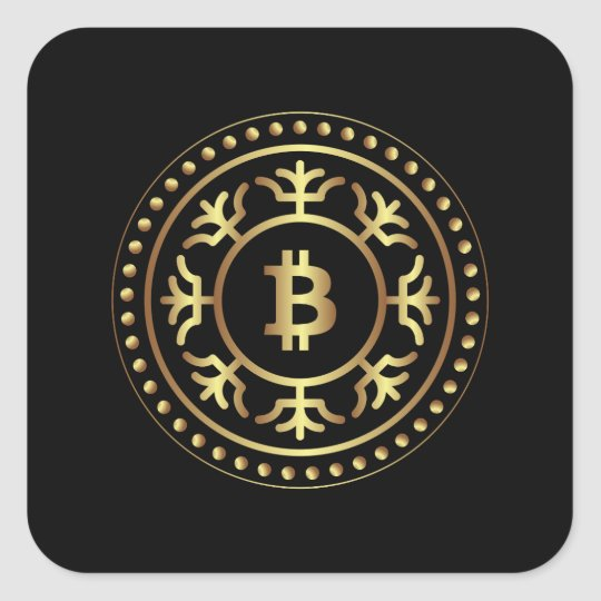 Bitcoin 2 square sticker