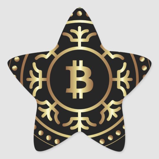 Bitcoin 2 star sticker