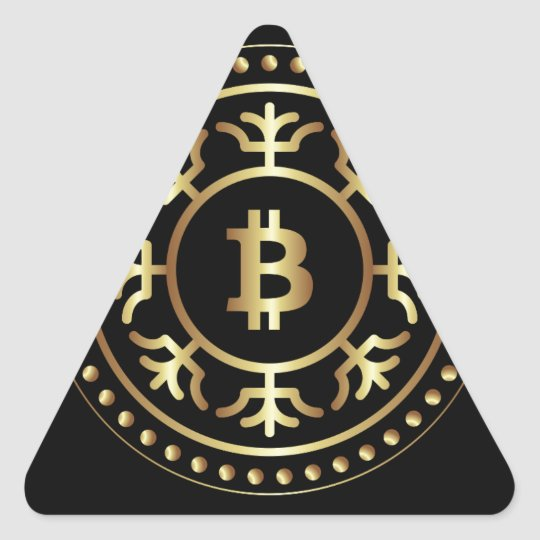 Bitcoin 2 triangle sticker