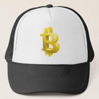 Bitcoin 3d Gold Sign Symbol Trucker Hat