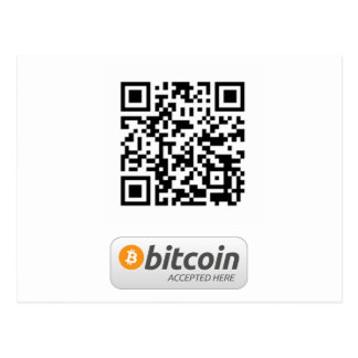 Bitcoin Accepted Here Postcard