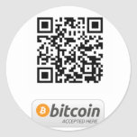Bitcoin Accepted Here Round Sticker