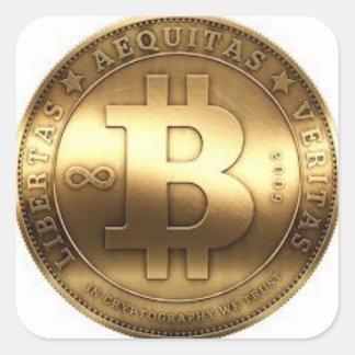 Bitcoin adhesives square sticker