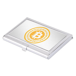 Bitcoin Alphanumeric Numbers Business Card Holder