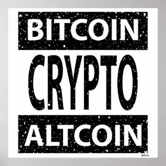 Bitcoin Altcoin Crypto Poster