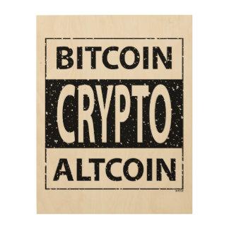 Bitcoin Altcoin Crypto Wood Wall Art