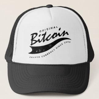 Bitcoin Baseball Logo Design Trucker Hat