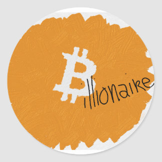 Bitcoin Billionaire Artsy Stickers