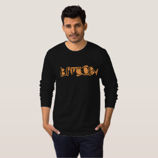 bitcoin, black  tshirt