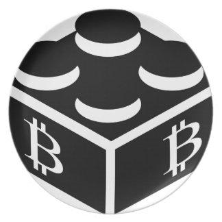 Bitcoin Block / Blockchain Plate
