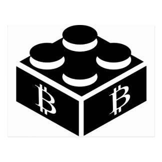 Bitcoin Block / Blockchain Postcard