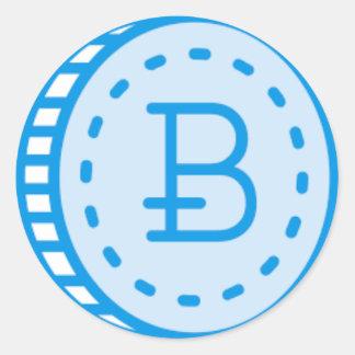 Bitcoin Bluez Classic Round Sticker