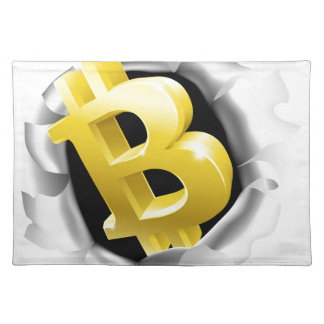Bitcoin Breaking Background Wall Concept Placemat