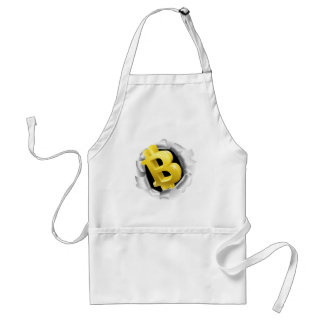 Bitcoin Breaking Background Wall Concept Standard Apron
