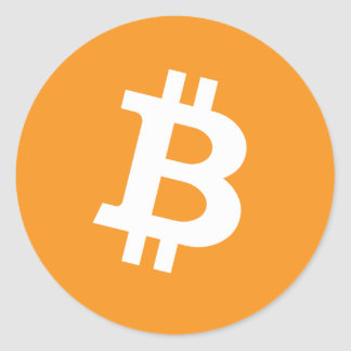 Bitcoin Btc Classic Round Sticker