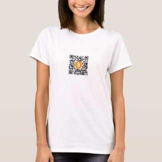 Bitcoin (BTC) Wallet QR Code Women's T-Shirt