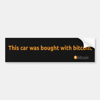 Bitcoin Bumper Sticker