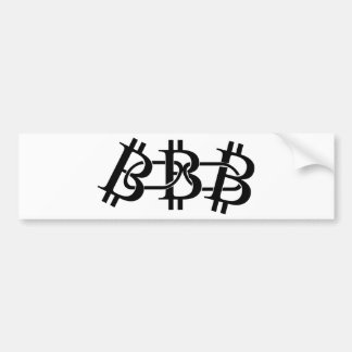Bitcoin Chain Bumper Sticker