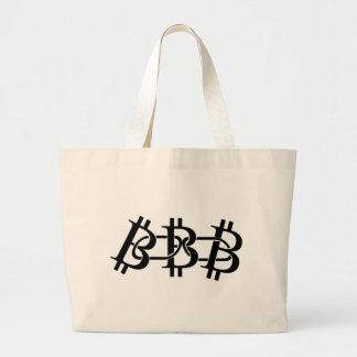 Bitcoin Chain Large Tote Bag