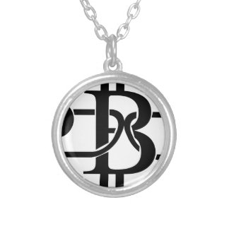 Bitcoin Chain Silver Plated Necklace