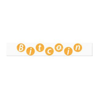 Bitcoin Circle Canvas Print