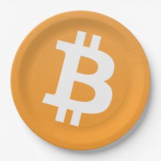 Bitcoin classic logo on bitcoin party plate
