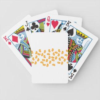 Bitcoin cloud bicycle playing cards