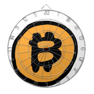 bitcoin collection dartboard with darts
