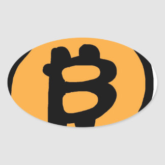 bitcoin collection oval sticker