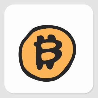 bitcoin collection square sticker