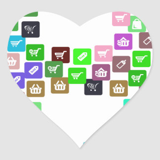 Bitcoin Commerce Icons Heart Sticker