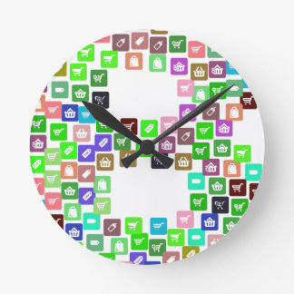 Bitcoin Commerce Icons Round Clock