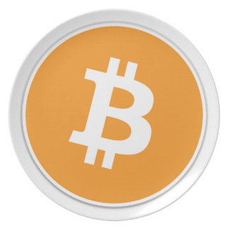 Bitcoin Crypto Currency - For the Bitcoin fans! Plate