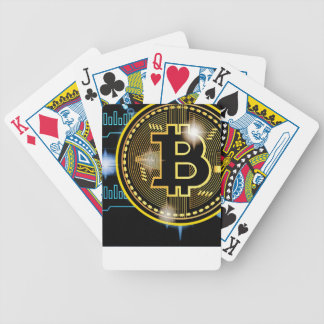 Bitcoin crypto currency graph Design Bicycle Playing Cards