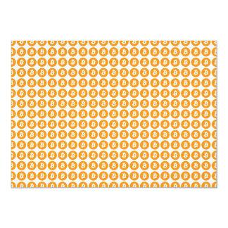 Bitcoin Crypto Currency Logo Card