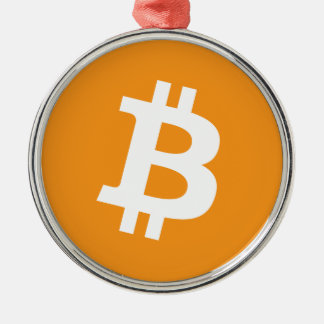 Bitcoin Crypto Currency Logo Metal Ornament