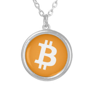Bitcoin Crypto Currency Logo Silver Plated Necklace
