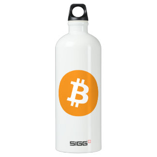 Bitcoin Crypto Currency Logo Water Bottle