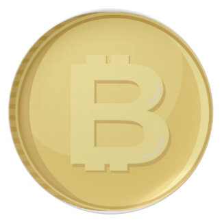 Bitcoin Cryptocurrency Plate