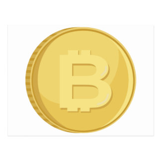 Bitcoin Cryptocurrency Postcard