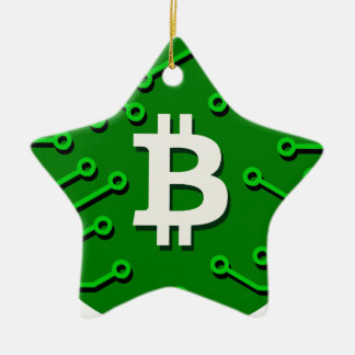 Bitcoin Currency Ceramic Ornament