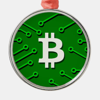 Bitcoin Currency Metal Ornament