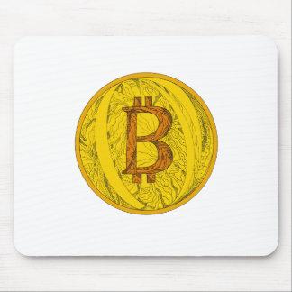 Bitcoin Doodle Art Mouse Pad