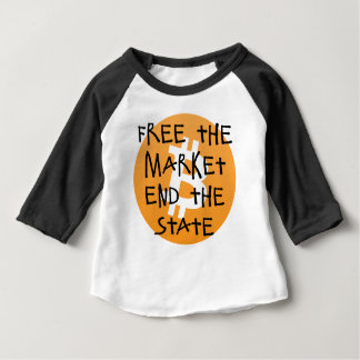 Bitcoin - Free the Market End the State Baby T-Shirt