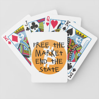 Bitcoin - Free the Market End the State Bicycle Playing Cards
